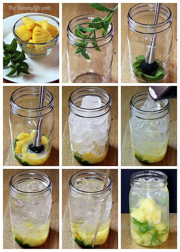 apa-aromatizata-ananas-menta