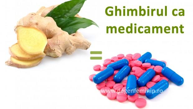 Află cât şi când să foloseşti ghimbirul, ca înlocuitor pentru medicamente.