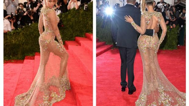 În ciuda faptului că J.Lo și Kim Kardashian sunt reginele ținutelor care nu lasă prea mult loc de interpetare, se pare că Beyonce le-a întrecut în nuditate, uimindu-și fanii!