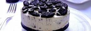 Cheesecake cu biscuiți Oreo - prăjitură fără coacere