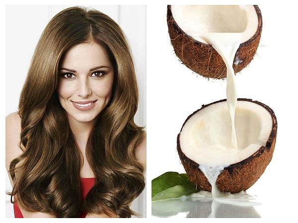 Apa de cocos pentru par