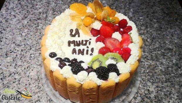 Am pregatit acest tort aniversar anul trecut de Sfanta Maria si a avut un mare succes!